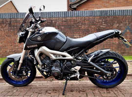 Yamaha MT09 850cc 2014 triple, sports motorcycle