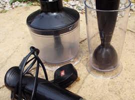 Kitchen Hand Blender Used Soup Smoothie Black Food Processor