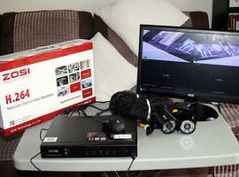 Zosi H.264 Digital CCTV 8 Port System with 2 Cameras