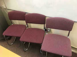 Purple Stackable Canter Leaver Chairs x 130