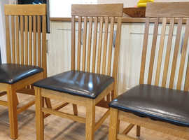 DINING CHAIRS (SIX) Reasonable offers considered