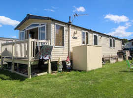 Swift Moselle 2012 at Allhallows, Kent. 3 bedrooms (8 berth) + decking