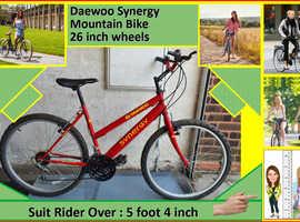 Daewoo Synergy Womens Bike 15 speed. 26 inch wheels.