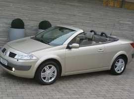 Renault Megane, 2004 (54) Beige Convertible, Manual Petrol, 70,000 miles