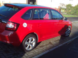 Skoda Rapid, 2013 (63) Red Hatchback, Manual Petrol, 17,250 miles