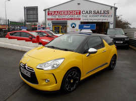 2013/63 Citroen DS3 1.6 E-HDi Airdream D-Sport Plus finished in Candy Yellow with Black, 55,694 miles