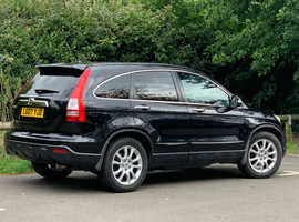 Honda CR-V, 2007 (07) Black Hatchback, Automatic Petrol, 101,965 miles