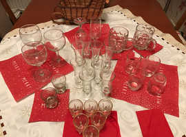 Assorted drinks glasses