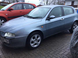 Alfa Romeo 147, 2004 (04) Blue Hatchback, Manual Diesel, 120,000 miles