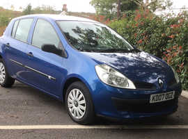 Renault Clio, 2007 (07) Blue Hatchback, Manual Petrol, 92,000 miles