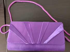 purple formal bag