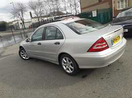 Mercedes C CLASS, 2004 (54) Silver Saloon, Automatic Diesel, 122,000 miles