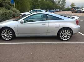 rare Toyota Celica,blue edition, 2005 (05) Silver Coupe, Manual Petrol, 89,000 miles