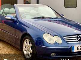 Mercedes , CLK 240 (04) Blue Convertible, AUTOMATIC Petrol, 74,026 miles