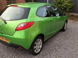 Mazda MAZDA 2, 2010 (60) green hatchback, Manual Petrol, 42,117 miles