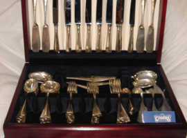SET CARRS OF SHEFFIELD 84 PIECE SOLID SILVER