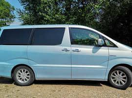 Toyota ALPHARD, 2006 (55) Light Blue, 8 seater, Automatic, Petrol Hybrid, 75k miles.
