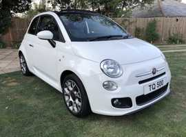 Fiat 500, 2014 (14) White Convertible, Manual Petrol, 46,000 miles