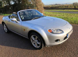 Mazda MX-5 2008 (57) Silver Convertible, Manual Petrol, 42,986 miles Low mileage, beautiful cabrio car.