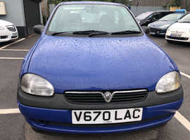 Vauxhall Corsa, 1999 (V) Blue Hatchback, Manual Petrol (SPARES OR REPAIRS)