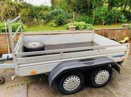 Twin axle 8x5 trailer with ramps and bulldog hitch lock