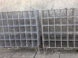 Vintage Wire Mesh with small Pigeon Hole School Lockers