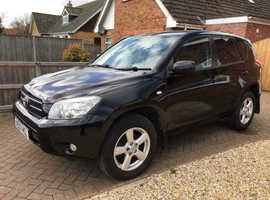 Toyota Rav4, 2007 (07) Black Estate, Manual Diesel, 118,000 miles