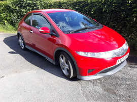 REDUCED***£1400 for quick sale***Honda Civic, 2007 (57) red hatchback, Manual Petrol, 96,000 miles
