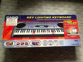 CASIO ELECTRIC KEYBOARD LK-43 KEY LIGHTING SYSTEM