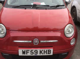 Fiat 500, 2009 (59) Red Convertible, Manual Petrol, 87,000 miles