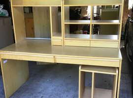 Office desk plus storage units
