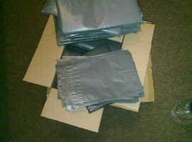 100 x Grey Mailing Packaging Bags Self Seal Size 225mm x 318mm / 9 x 12 inches from £3