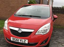 Vauxhall Meriva, 2011 (61) Red MPV, Manual Petrol, 51,178 miles