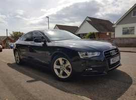 Audi A5, 2013 (13) Black Hatchback, Manual Diesel, 58,000 miles