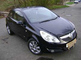 Vauxhall Corsa, 2008 (08) Black Hatchback, Manual Petrol, 81,000 miles