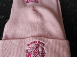Barnsley FC Pink Scarf & Hat