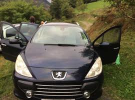 Peugeot 307, 2007 (57) Blue Estate, Manual Diesel, 168,021 miles
