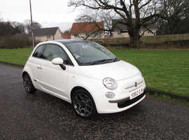 Fiat 500 Lounge 1.2, 2012 (62) White Hatchback, Manual Petrol, 56,000 miles