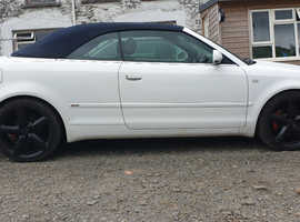 Audi A4, 2004 (53) White Convertible, Cvt Diesel, 168,746 miles