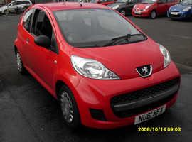 Peugeot 107, 2011 (61) Red Hatchback, Manual Petrol, 72,615 miles