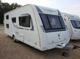 Compass Corona 576 Solid 2016 6 Berth Fixed Bunk Beds Caravan + Motor Movers + Winter Cover + Large Porch Awning + Full Service History + Two New Tyre
