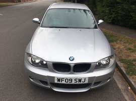 BMW 1 series, 2009 (09) silver hatchback, Manual Diesel, 106,000 miles