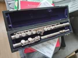 FLUTE with Case and Briefcase with music sheets, instructions and more.