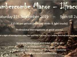 Chambercombe Manor Ghost Hunt - Ilfracombe