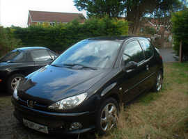 Peugeot 206, 2006 (06) Black Hatchback, Manual Petrol, 123,320 miles