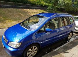 Vauxhall Zafira, 2005 (05) Blue MPV, Manual Petrol, 84,000 miles