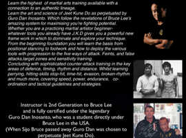 PERSONAL INSTRUCTION IN  BRUCE LEE'S ART OF JEET KUNE DO
