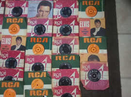 A Collection of Elvis Vinyl Singles from the 60's and 70's