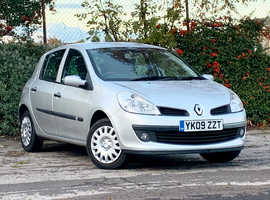 Renault Clio 1.2 EXPRESSION, 2009 (09) Silver Hatchback, Manual Petrol, 59,497 miles, NEW MOT