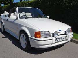 FORD ESCORT XR3I CONVERTIBLE, ALL WHITE , WHITE EDITION,